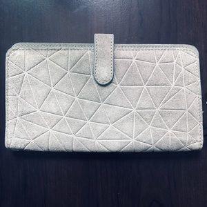 Anthropologie Boho Minimalist Suede-Leather Wallet
